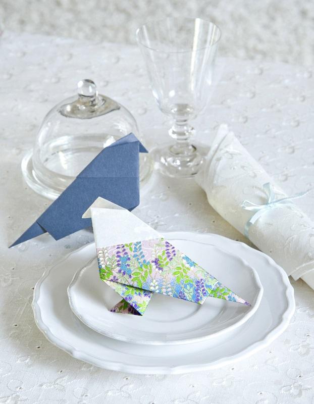Decoratiuni origami in forma de pasari: Natura vrea sa reinvie si in casele noastre, nu doar pe campii