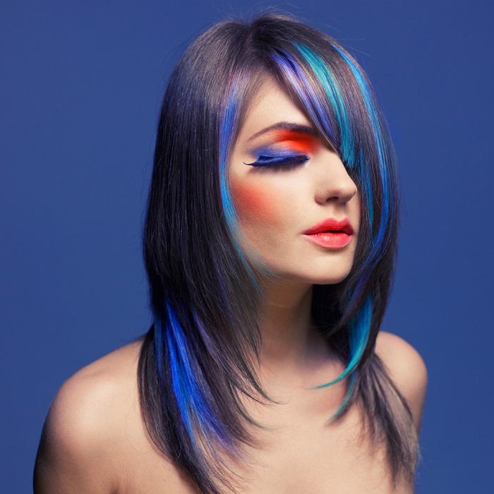 Suvite delicate si partial vopsite in albastru