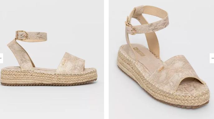 Sandale aurii tip AVARCA piele de șarpe