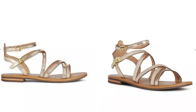 Sandale romane aurii Geox