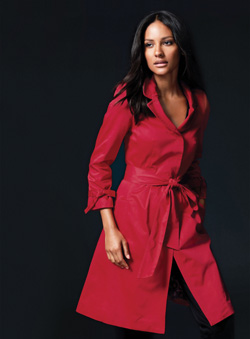Jacheta rosie cu cordon