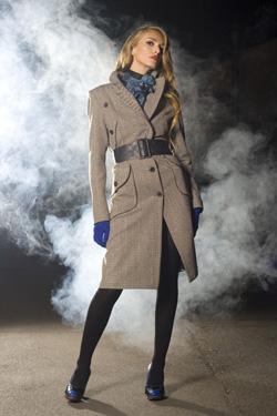Palton elegant cu curea