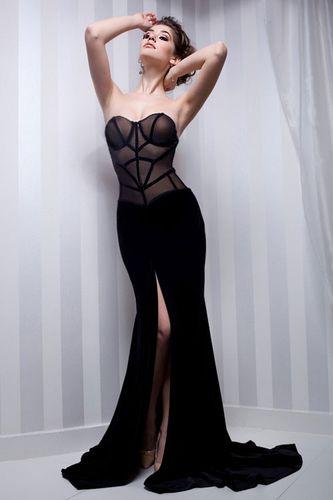 Rochie de seara neagra sirena