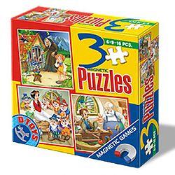 3 puzzle magnetic - Basme