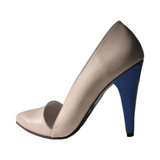 Pantofi crem cu detalii picante