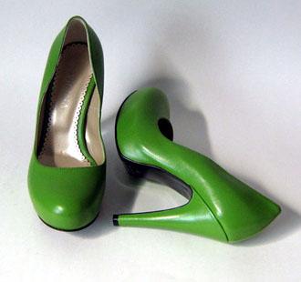 Pantofi verzi de piele