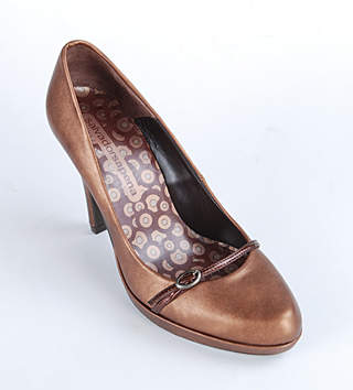 Pantofi din piele cu efect metalic