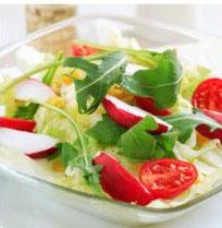 Salata de rosii cu portocala si menta, salata verde