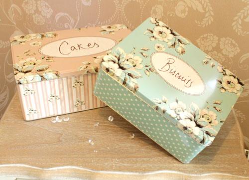 Cutii de depozitare cu motive florale