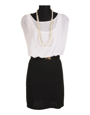 Rochie office Black and White