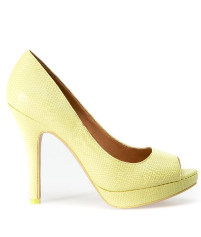 Pantofi galben-lamaie