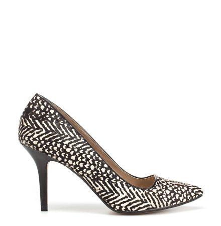 Pantofi cu imprimeu alb-negru