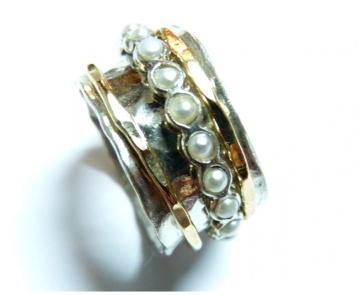 Inel antistres cu perle