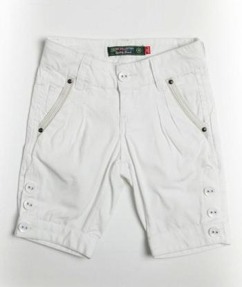 Pantaloni Fox albi