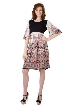 Rochie cu imprimeu arabesc