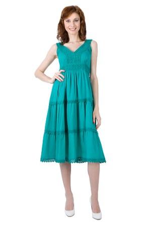 Rochie verde proaspat