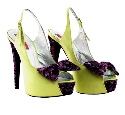 Sandale cu toc tip peep toe si fundite Indian Prune Green