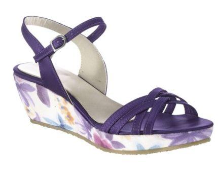 Sandale lila cu platforma