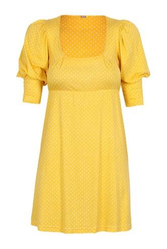 Bluza lunga galben cu buline