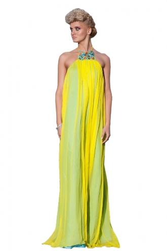 Rochie spectaculoasa cu galben