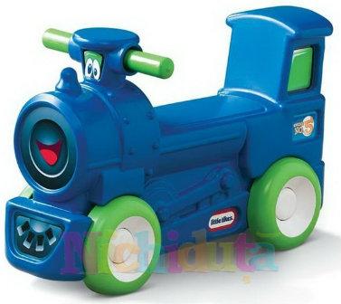 Trenulet pentru copii de actionat cu picioarele