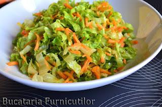 Salata japoneza cu dressing de ghimbir: