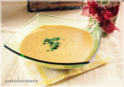 Supa crema de linte si morcovi