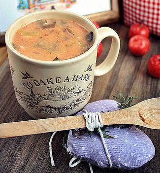 Supa cremoasa de ciuperci pleurotus