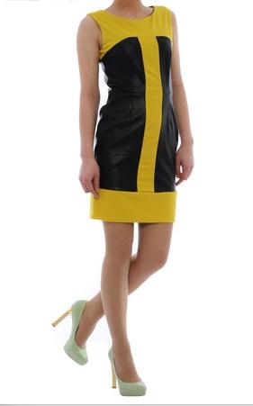 Rochie galben-negru