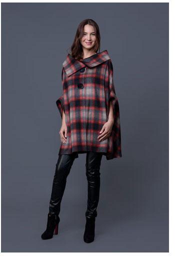 Jacheta in carouri din lana DonaKyrosJST