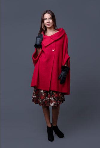 Jacheta rosie din lana