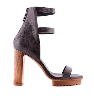 Brunello Cucinelli - Sandale cu platformă ce imită lemnul