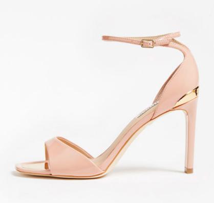 Guess - Sandale de piele ecologică cu toc înalt