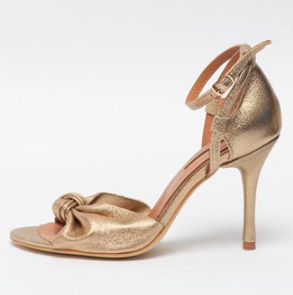 Mihaela Glavan - Sandale din piele cu toc stiletto și detaliu înnodat