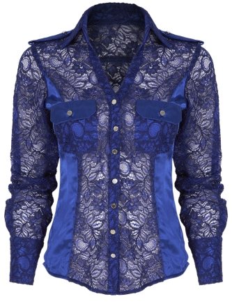 Blue Lace Shirt
