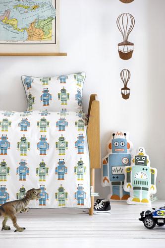 Dormitor pentru baieti: roboti